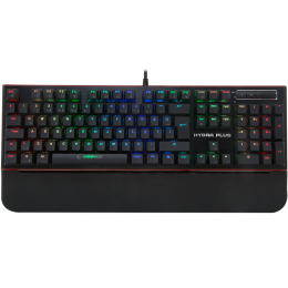 Rampage HYDRA R6 PLUS Full RGB Usb + Audio Portlu Aluminyum Kaplama Mavi Switch Gaming Mekanik Klavye